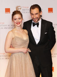 Holliday Grainger and Joseph Mawle at the Orange British Academy Film Awards 2012 in London.