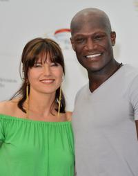 Lucy Lawless and Peter Mensah at the photocall of