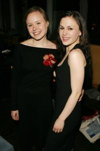Alison Pill and Anna Paquin at the after party of the opening night of
