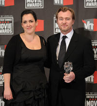 Emma Thomas and Christopher Nolan at the 16th Annual Critics Choice Movie Awards.