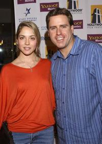 Brooke Nevin and Michael Gelbart at the premiere of