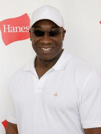Michael Clarke Duncan at the Hanes Style Villa.