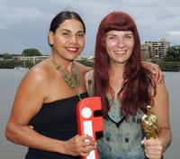 Deborah Mailman and Melanie Coombs at the 2006 Lexus IF Awards Media Announcement.