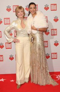Jane Fonda and Verona Pooth at the Ein Herz Fuer Kinder Gala.