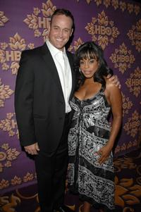 Matt Eisman and Niecy Nash at the HBO Emmy after party.