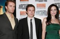 Garret Dillahunt, Casey Affleck and Mary Louise Parker at the premiere of