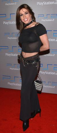 Alexis Arquette at the Playa Del Playstation gaming party.