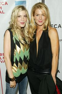 Tori Spelling and Poppy Montgomery at the premiere of