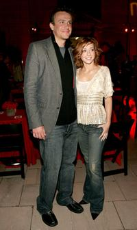 Jason Segel and Alyson Hannigan at the CBS