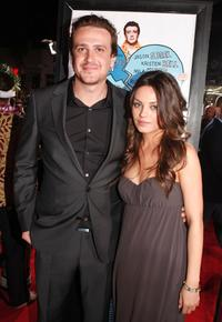 Jason Segel and Mila Kunis at the premiere of