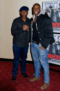Vas Blackwood and Leo Ihenacho at the UK premiere of