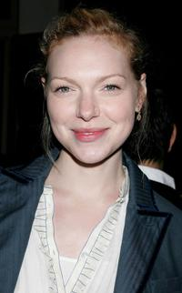 Laura Prepon at the party to celebrate the launch of Helio, a new mobile communications service.