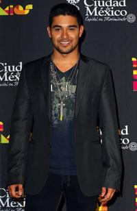 Wilmer Valderrama at the press room during the Los Premios MTV Latin America 2007.