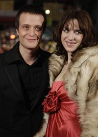 August Diehl and his wife Julia Malik at the Berlin Film Festival.
