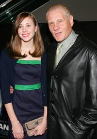 William Forsythe and his daughter Rebecca at the premiere of