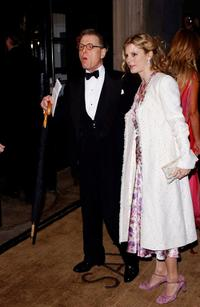 Edward Fox and Emilia Fox at the Evening Standard Film Awards 2004.