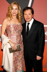 Michael J. Fox and Tracy Pollan at the cocktail party before Time Magazine's celebration of the 100 most influential people.