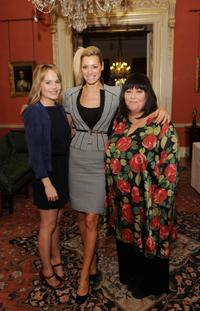 Duffy, Tess Daly and Dawn French at the reception with Gordon Brown In Aid of Women's Day.