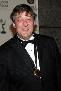 Stephen Fry at the 35th International Emmy Awards Gala.