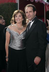 Brooke Adams and Tony Shalhoub at the 59th Annual Primetime Emmy Awards.