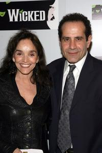 Brooke Adams and Tony Shalhoub at the opening night of the