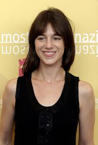 Charlotte Gainsbourg at the photocall of