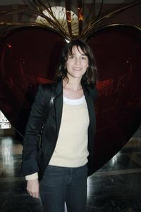 Charlotte Gainsbourg at the opens of the inaugural show,