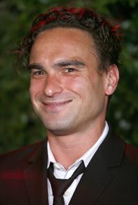 Johnny Galecki at the CBS celebration of Monday night season premieres.