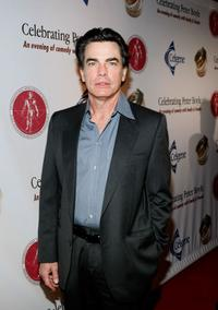 Peter Gallagher at the Comedy to Benefit The IMF's Peter Boyle Fund.