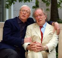 Michael Gambon and Michael Caine at the Ireland press conference of