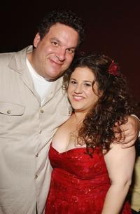 Jeff Garlin and Marissa Jaret Winokur at the opening night of