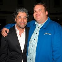 John Melfi and Jeff Garlin at the premiere of