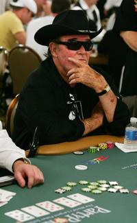 James Garner at the World Series of Poker no-limit Texas Hold 'em main event.