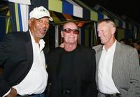 James Garner, Sam Shepard and Morgan Freeman at the Los Angeles after-party for premiere of