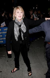 Teri Garr at the Ed Sullivan Theater for taping of
