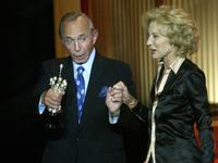 Ben Gazzara and Marisa Paredes at the 53rd San Sebastian International Film Festival's Donostia award.