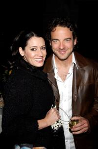 Paget Brewster and Andy Comeau at the after party of the screening of