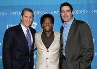 Doug Herzog, D.L. Hughley and Adam Carolla at the MTV Networks Upfront.