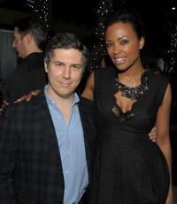 Chris Parnell and Aisha Tyler at the Fox Winter 2010 All-Star party.
