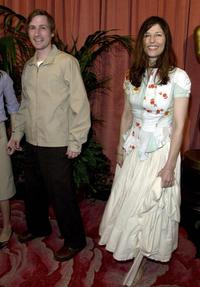 Spike Jones and Catherine Keener at the annual Oscars nominees luncheon.