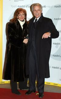 Giuliano Gemma and his wife at the Nastri D'Argento Ceremony (Italian Movie Awards presented by the Association of Film Critics).
