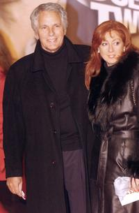 Giuliano Gemma and his wife at the European premiere of
