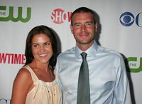 Marika Dominczyk and Scott Foley at the CW/CBS/Showtime/CBS Television TCA party.