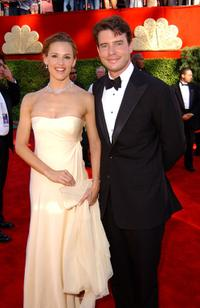 Jennifer Garner and Scott Foley at the 54th Annual Primetime Emmy Awards.