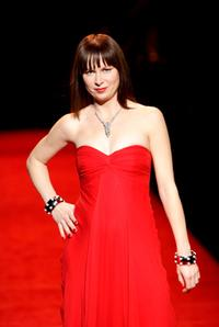 Mary Lynn Rajskub at The Heart Truth's Red Dress Collection fashion show.