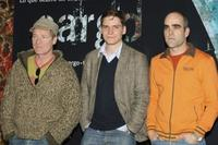 Peter Mullan, Daniel Bruhl and Luis Tosar at the Madrid photocall of