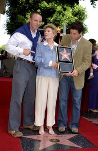 Patty Duke and sons MacKenzie and Sean Astin at the ceremony honoring Duke with a star on the Hollywood Walk of Fame.