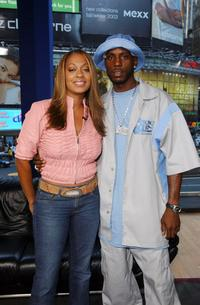 MTV VJ LaLa and DMX at the MTV Times Square Studios.