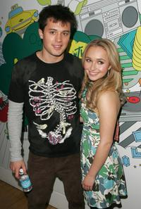 Stephen Colletti and Hayden Panettiere at the MTV's Total Request Live.