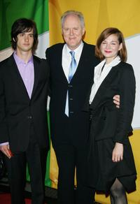 Jake Sandvig, John Lithgow and Heather Burns at the NBC Primetime Preview 2006-2007.
